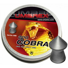 Piombini Cobra Umarex punta cal. 5,5 gr1,02 200 pz